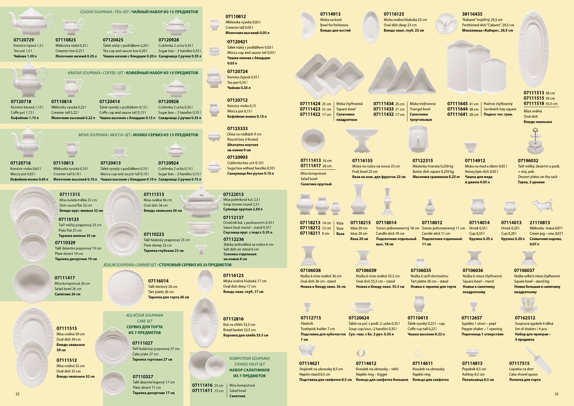 tvar porcelánu Sonáta